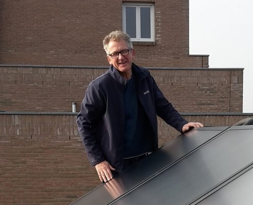 Verwarmen en warmwater door een zonneboiler in Amsterdam